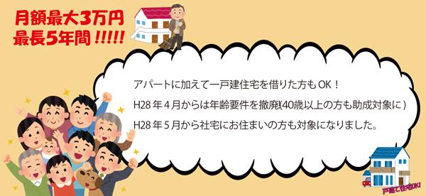 住宅 家賃 助成 民間 賃貸